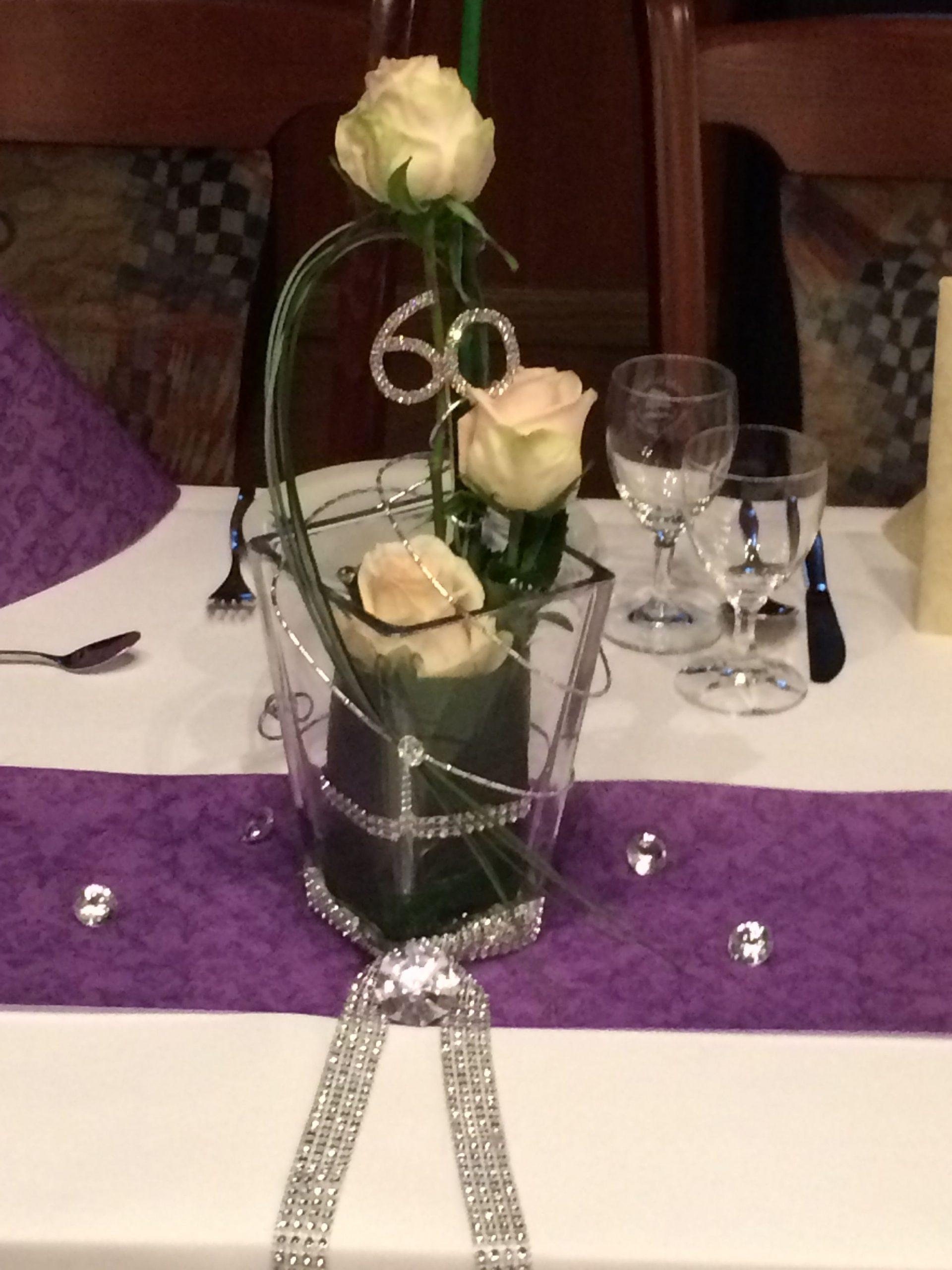 Tischdeko Diamantene Hochzeit | Diamantene Hochzeit