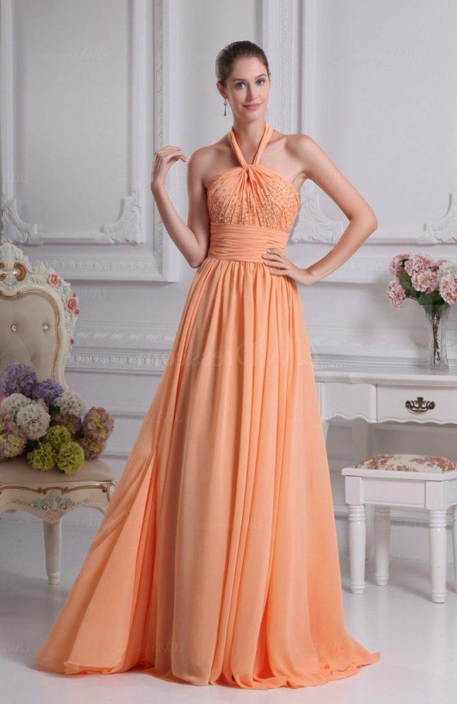 Tolle Ideen Fur Die Hochzeit Brautkleid In Apricot Farbe Abendkleid