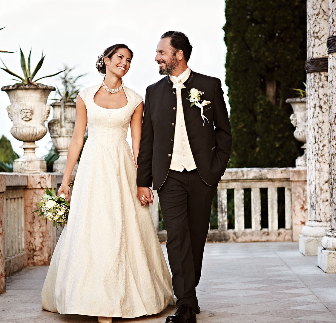 Trachtenhochzeit | Hochzeitsdirndl & Bräutigam | Wimmer