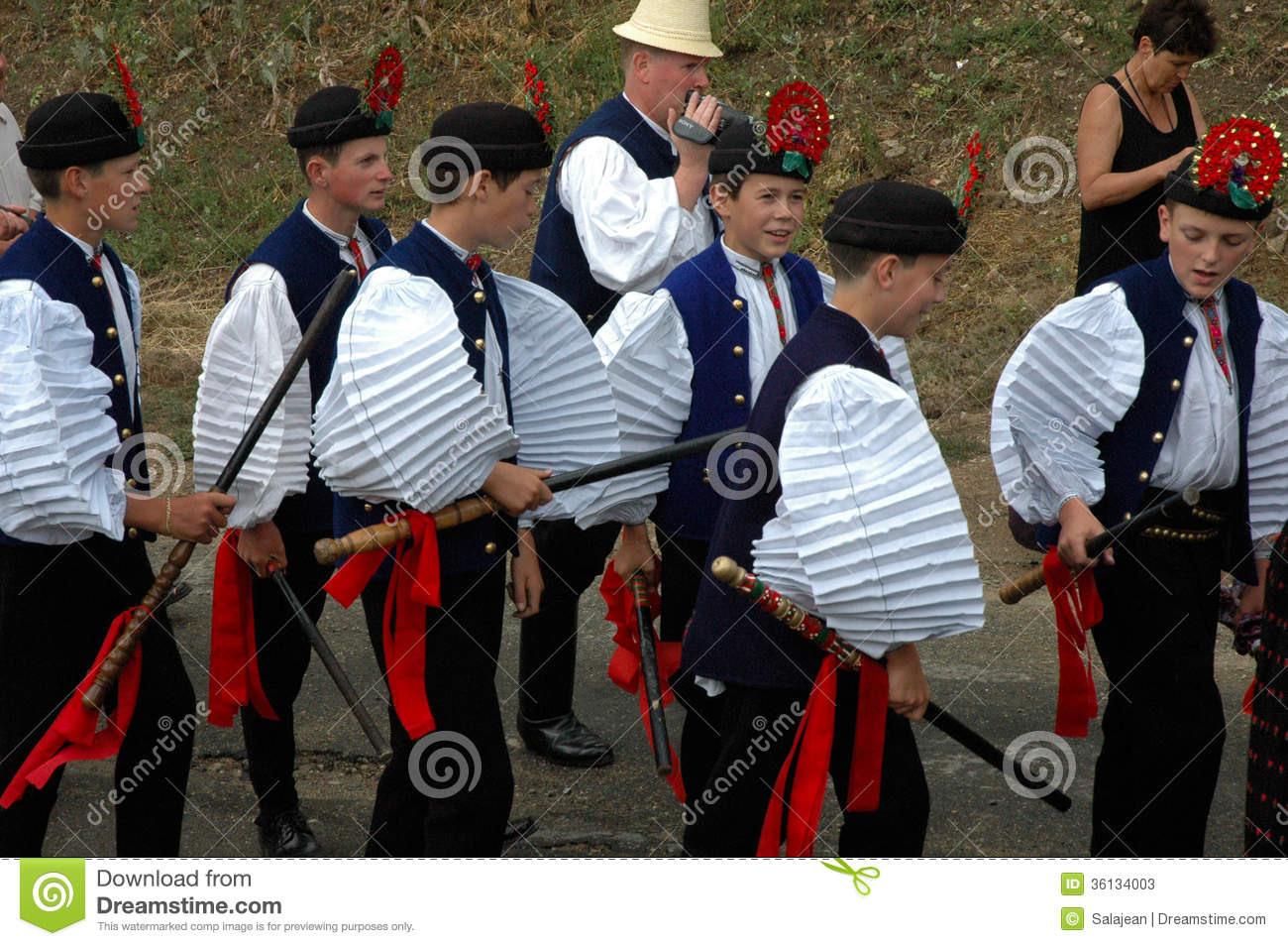 Traditionelle Ungarische Hochzeit Redaktionelles Stockfoto