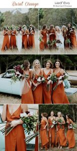 Trending: 15 Ideas For Burnt Orange Bridesmaid Dresses For