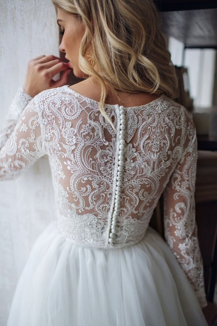 Tulle Long Sleeve Dress Lorelei, Bridal Separates Top And