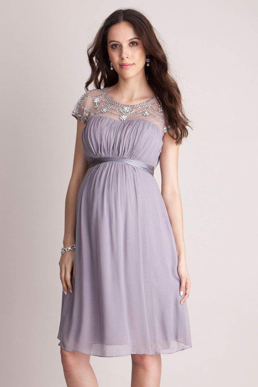 Umstandskleid Mit Perlenstickerei | Umstandskleid, Kleider