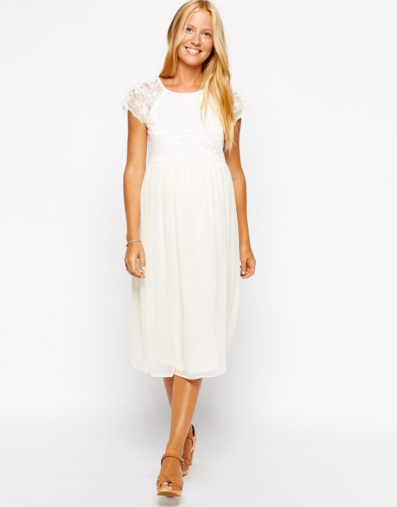 Umstandskleid Weiß. Oberteile Kleider Umstandsmode - Abendkleid