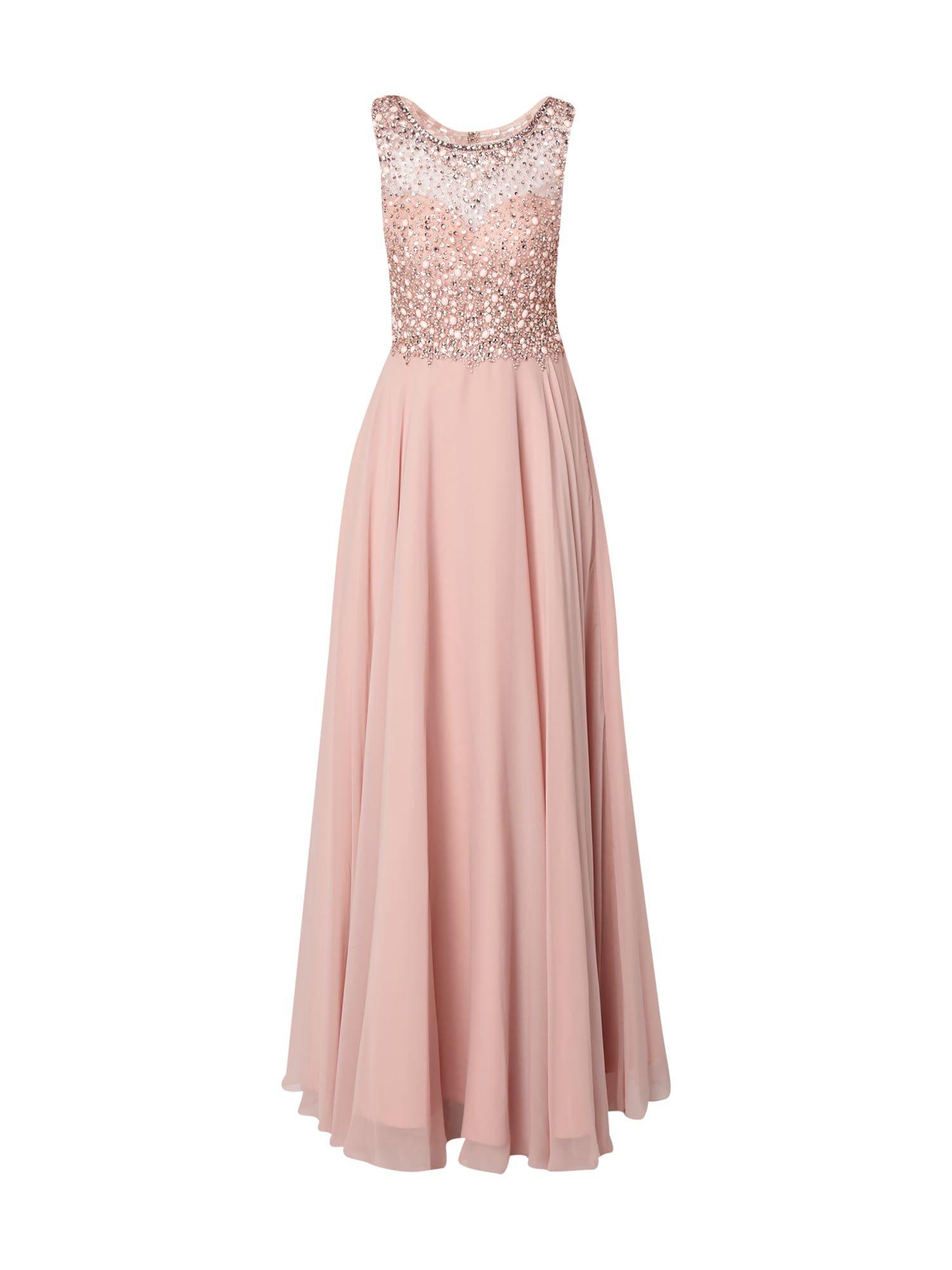 Unique – Abendkleid Mit Ziersteinbesatz – Rosé | Elegante