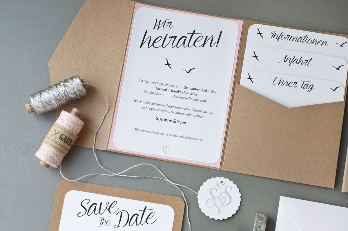 Unsere Hochzeitseinladungen | Hochzeitsfeier Einladung