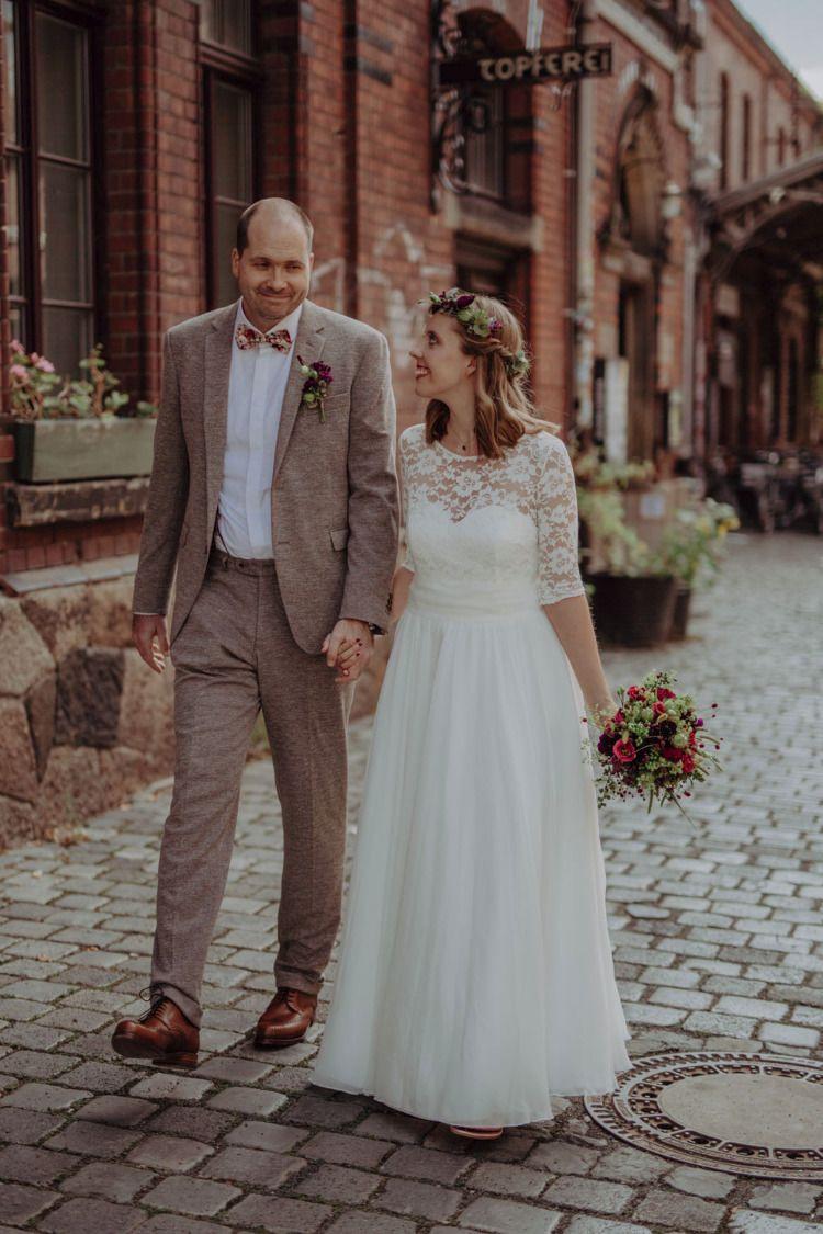 Urbane Hochzeit In Leipzig | Hochzeitskleider Spitze
