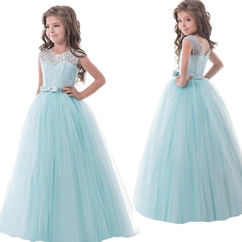 Us $10.98 25% Off|Blume Spitze Mädchen Kleid Kleid Für Hochzeit Mädchen  Lange Abendkleid Kinder Designs Mädchen Kinder Party Tragen Teenager Maxi  Tutu