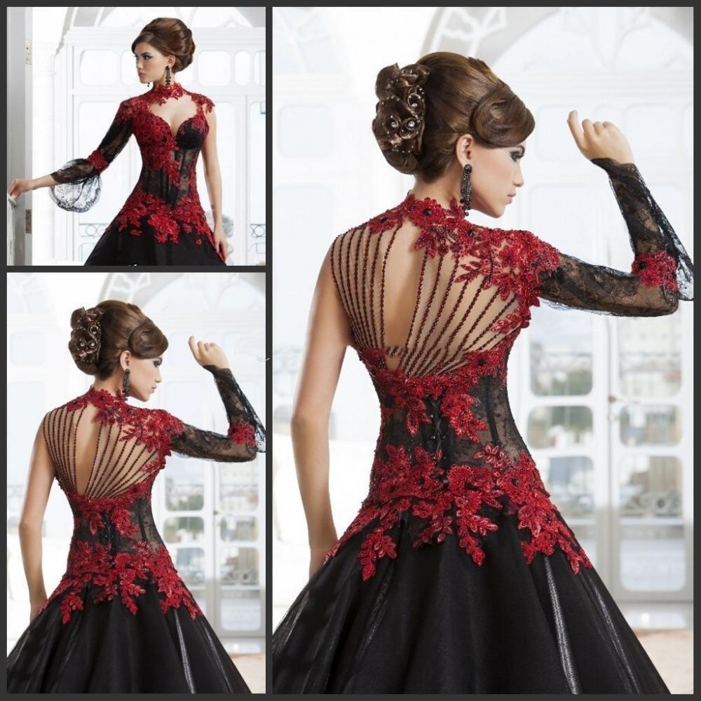 Us $115.15 215% OffGothic 15 Hochzeit Kleider Rot Und Schwarz A