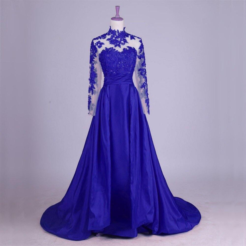 Us $128.65 17% Off|Langarm Lace Abendkleider Party Für Hochzeit A Linie  Türkischen Dubai Formale Abendkleider Kleider Robe De Soiree Longue-In