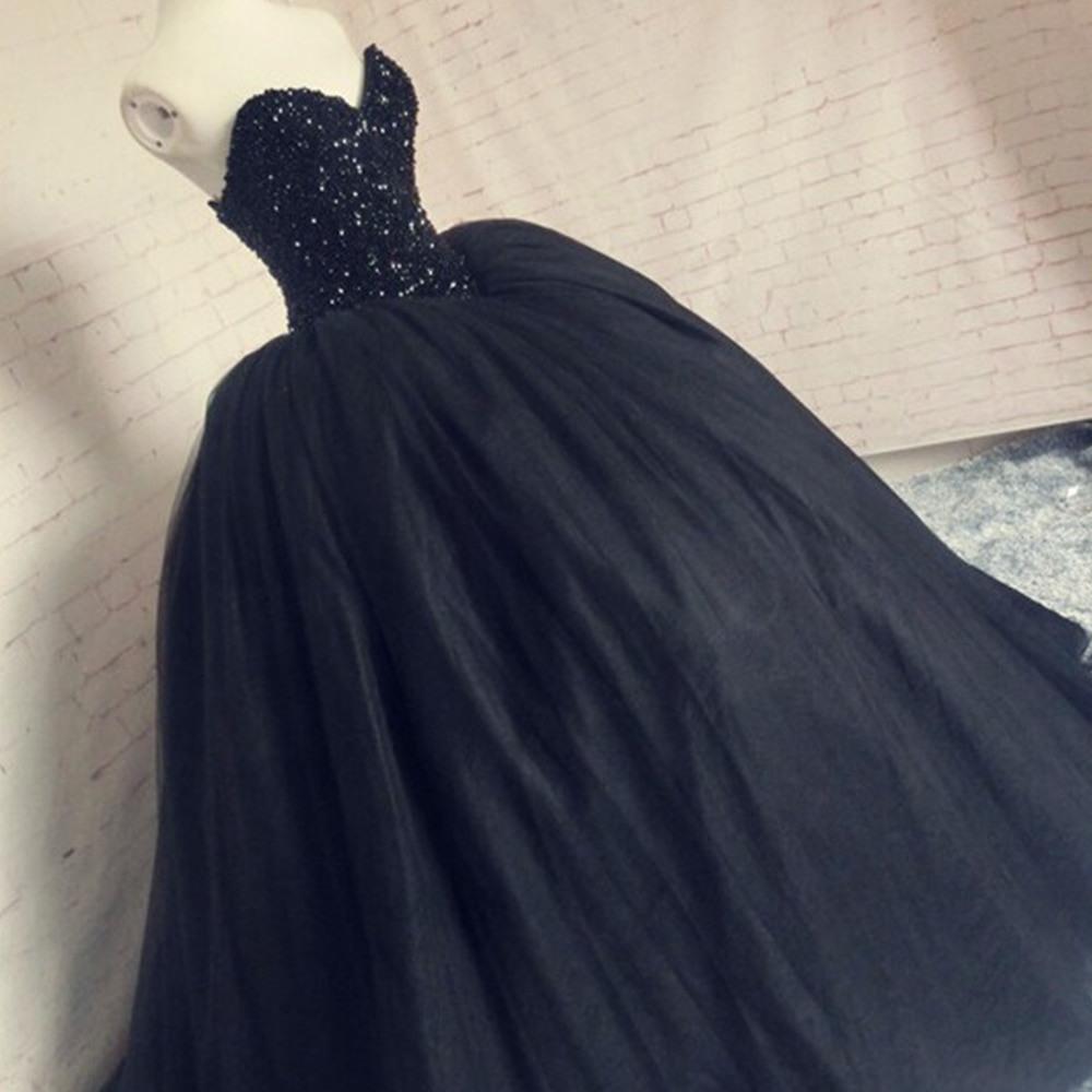 Us $144.75 25% Off|Robe De Mariee Schwarz Hochzeit Kleid 2020 Prinzessin  Kristalle Perlen Türkei Hochzeit Kleider Tüll Korsett Zurück Braut Kleider