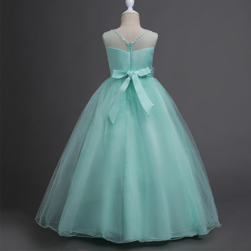Us $15.95 45% Off|Jugendliche Party Abendkleid Hochzeit Blumenmädchen Kleid  Für Kinder Mädchen Elegante Prinzessin Ärmel Festzug Formales Langes