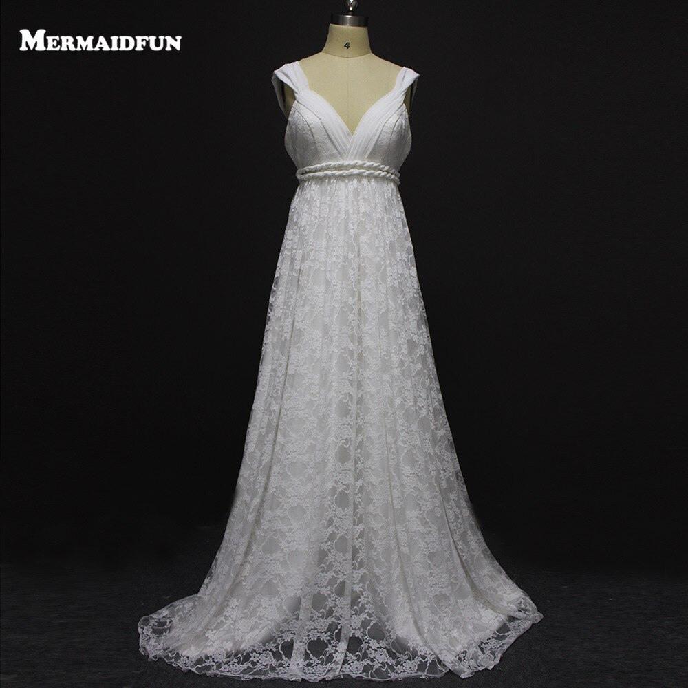Us $151.2 20% Off|Vintage Boho Hochzeit Kleid Sexy Spitze Brautkleid Plus  Size Strand Bräute Kleider Robe De Mariee Bruidsjurken-In Brautkleider Aus