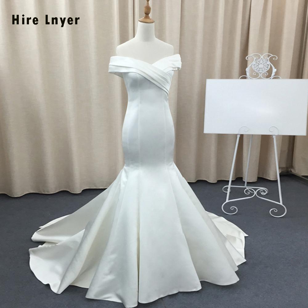 Us $172.25 24% Off|Mieten Lnyer Nach Maß Falte Neck Frankreich Satin  Meerjungfrau Hochzeit Kleider Vestidos De Noivas Alibaba China Braut  Kleider