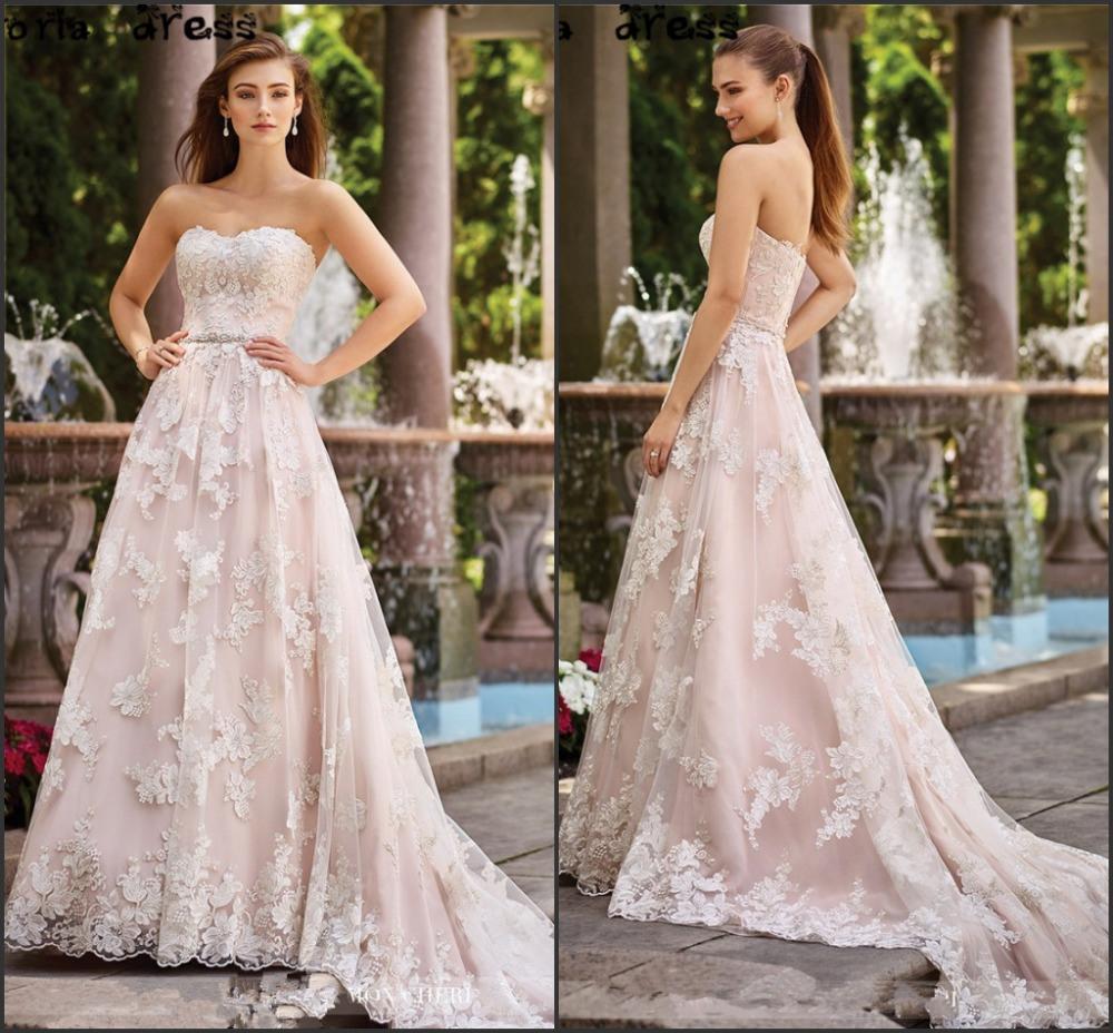 Us $175.77 7% Off Schatz Brautkleid Spitze Tüll Perlen Gürtel Erröten Rosa  Farbe Akzent Hochzeit Kleid H173906-In Brautkleider Aus Hochzeiten Und