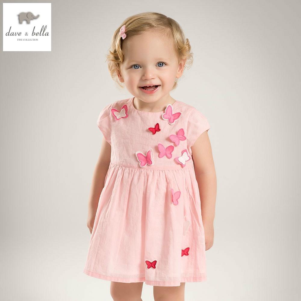 Us $24.09 45% Off|Db5067 Dave Bella Sommer Baby Mädchen Prinzessin Kleid  Schmetterling Appliques Kleid Baby Hochzeit Kleid Kinder Geburtstag Nette