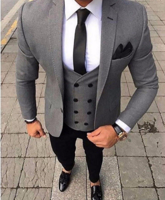 Us $57.0 40% Off|Handsome Groomsmen Schal Revers Bräutigam Smoking Herren  Hochzeit Kleid Mann Jacke Blazer Prom Abendessen (Jacke + Pants + Tie +