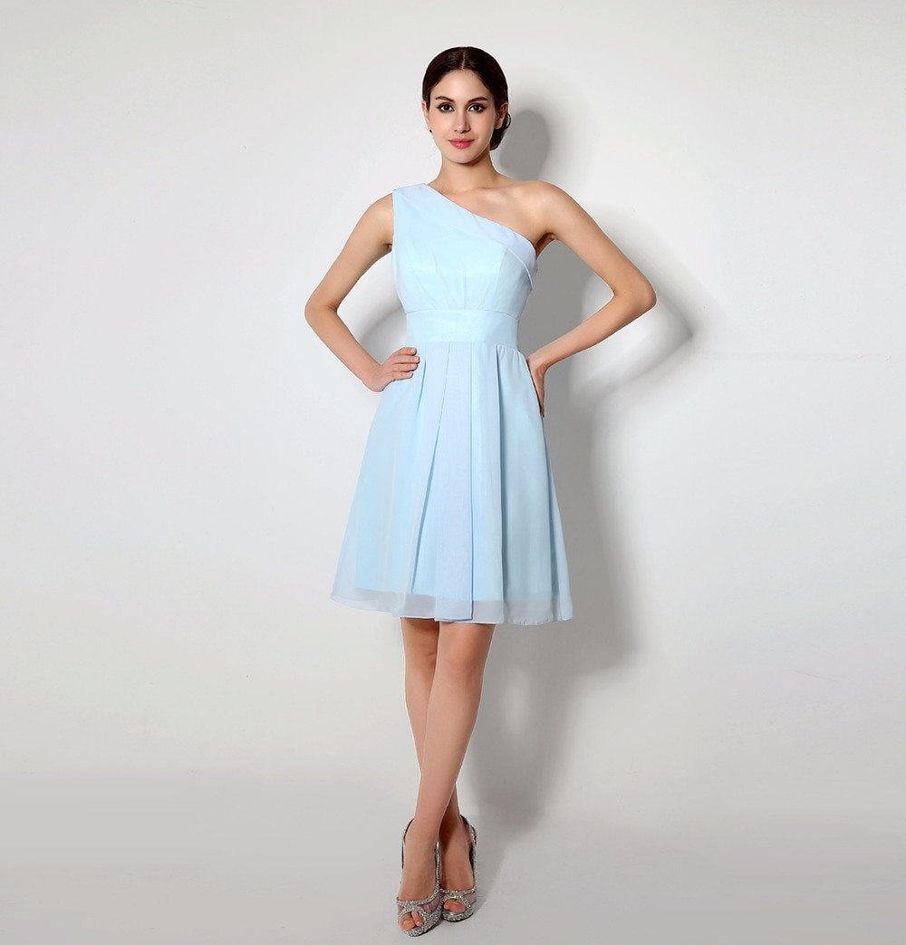 Us $62.04 15% Off|Sexy Hellblau Cocktailkleider Dubai Abaya Eine Linie  Chiffon Robe De Cocktail Short Party Kleider Formelle Kurze Partei Kleid-In
