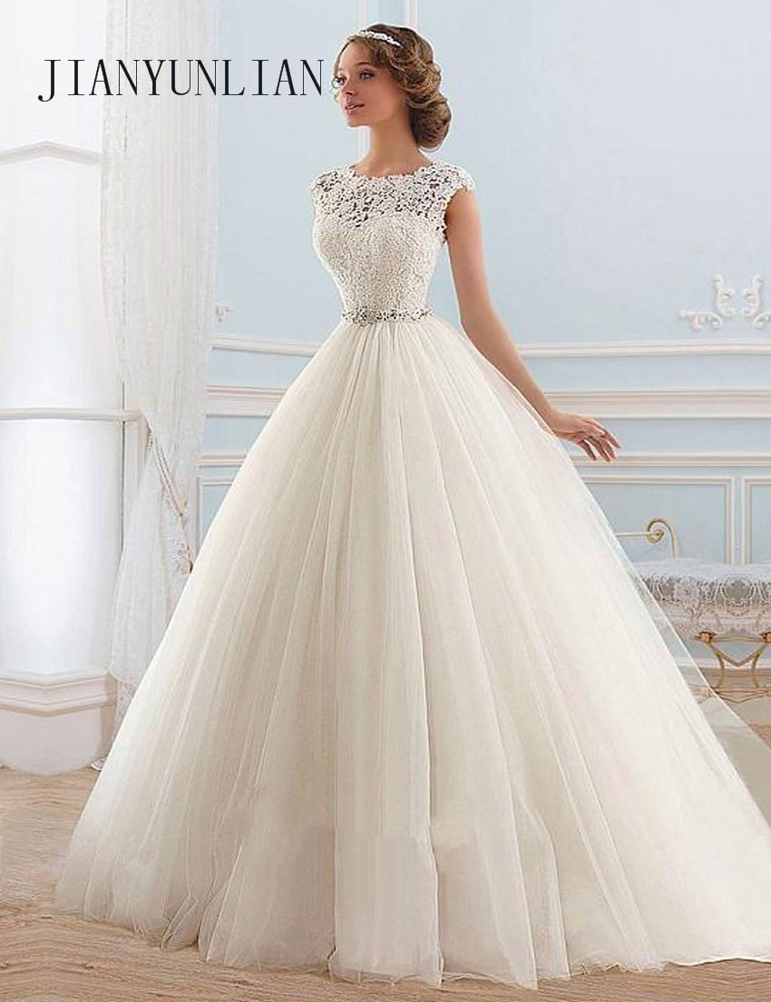Us $66.6 26% Off|Vestido De Noiva Spitze Und Tüll Braut Hochzeit Kleid 2020  Prinzessin Rohr Top Perlen Hochzeit Kleid Custom Made-In Brautkleider Aus