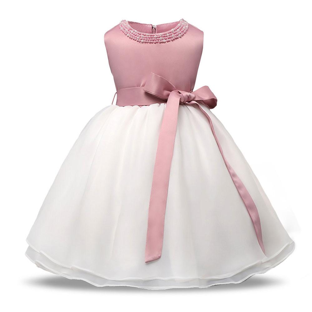 Us $8.99 40% Off|Baby Prinzessin Kleid Schöne Perlen Ballkleid Kleid Für  Hochzeit Party Kleinkind Taufe Kleid Alter 1 2 Jahre Baby Geburtstag  Kleid-In
