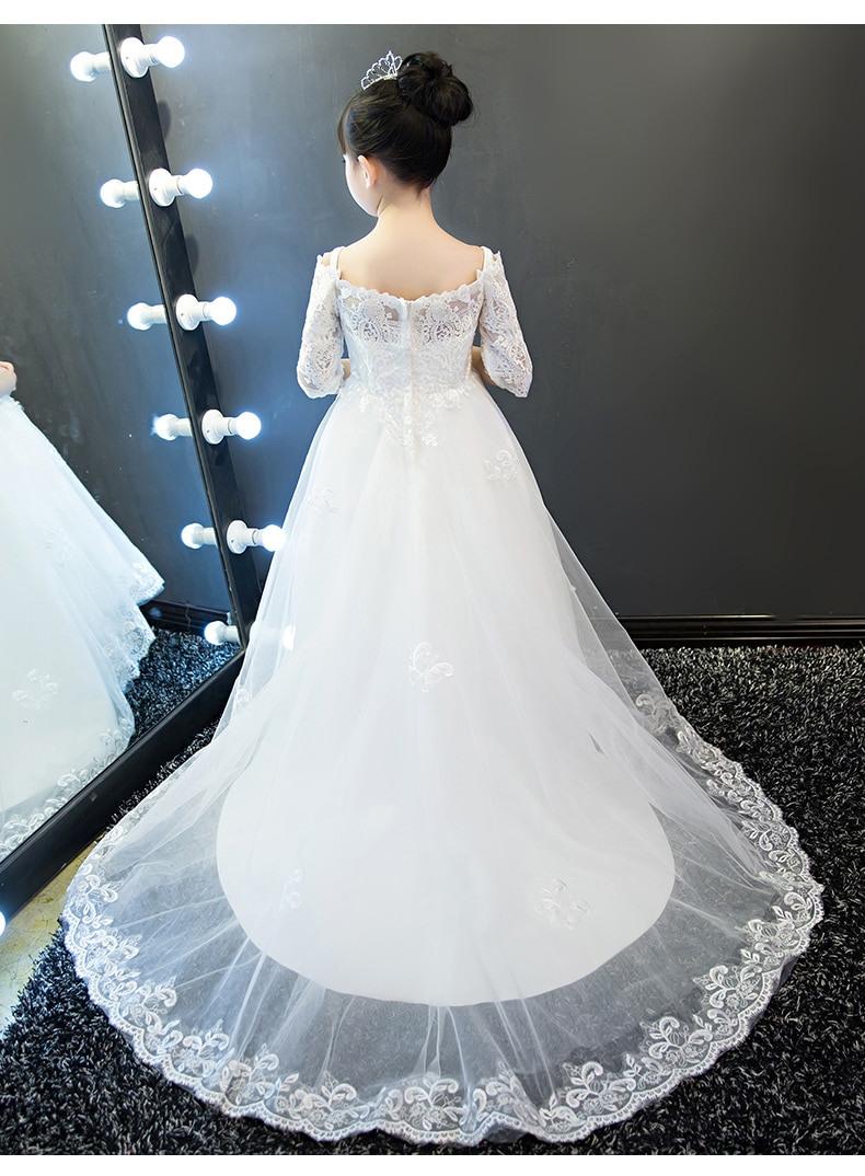 Us $86.99 |Hochzeit Kinder Mädchen Prinzessin Kleid Baby Mädchen Luxus  Kleidung Hochzeitskleid Mit Langen Schwanz Klavier Kostüm  Geburtstagsgeschenk