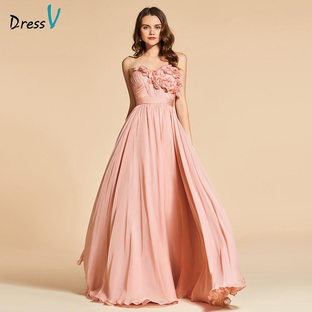 Us $99.63 49% Off|Dressv Helle Dark Pink Lange Abendkleid Elegante Fllows  Sleeveless Hochzeit Formales Kleid Backless Abendkleider-In Abendkleider  Aus