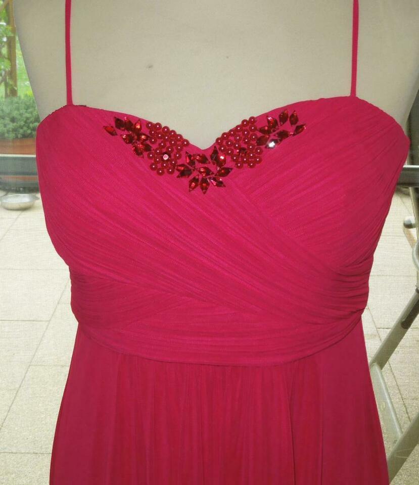 Vera Mont Kleid Abendkleid Abschlussballkleid, Gr. 36/38, Fuchsia