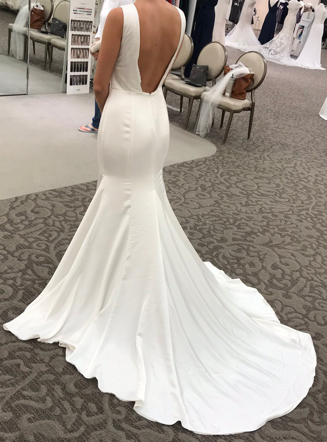 Vera Wang Wedding Dresses Prices Vera Wang Crepe Back Satin