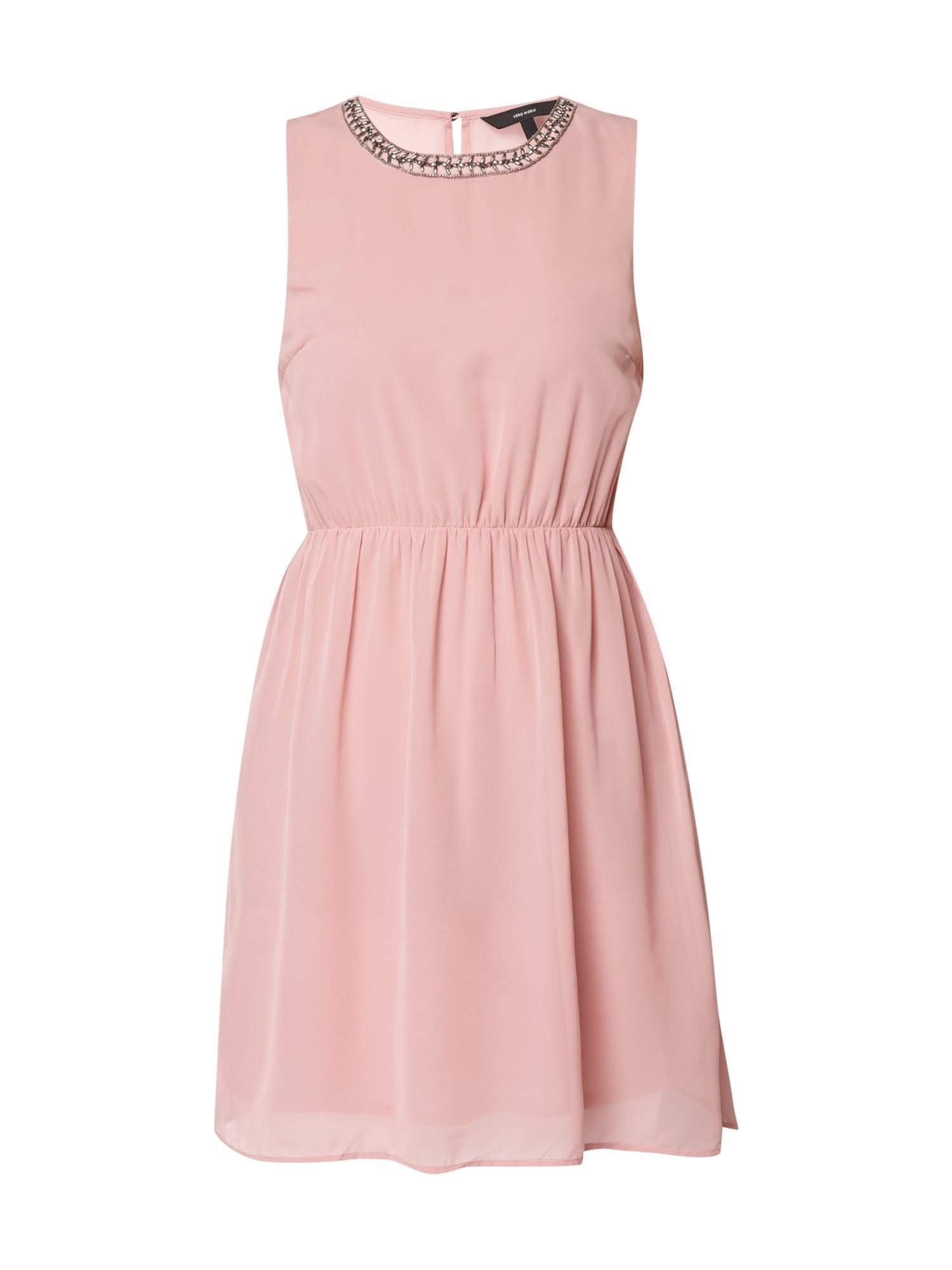 vero moda kleid mit zierperlenbesatz in rosé online kaufen