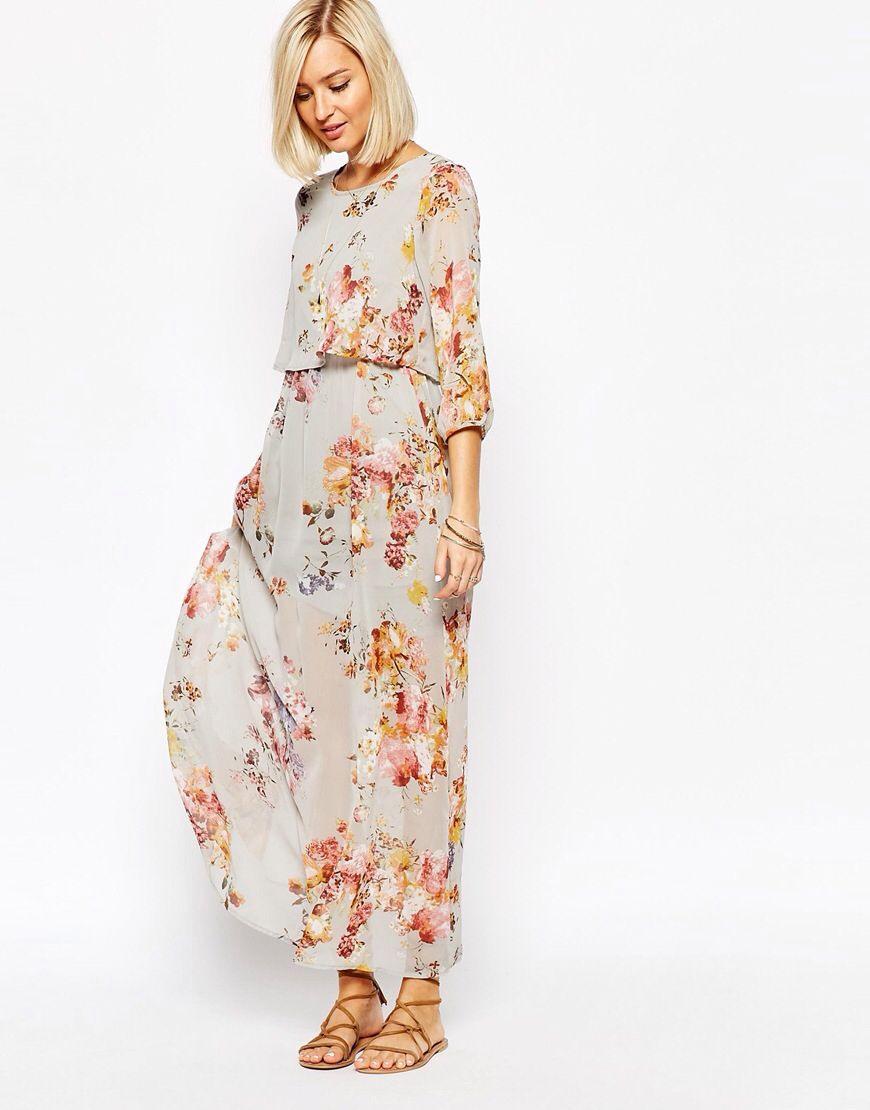 Vero Moda – Maxikleid Im Boho-Stil Mit Blumen-Print | Maxi
