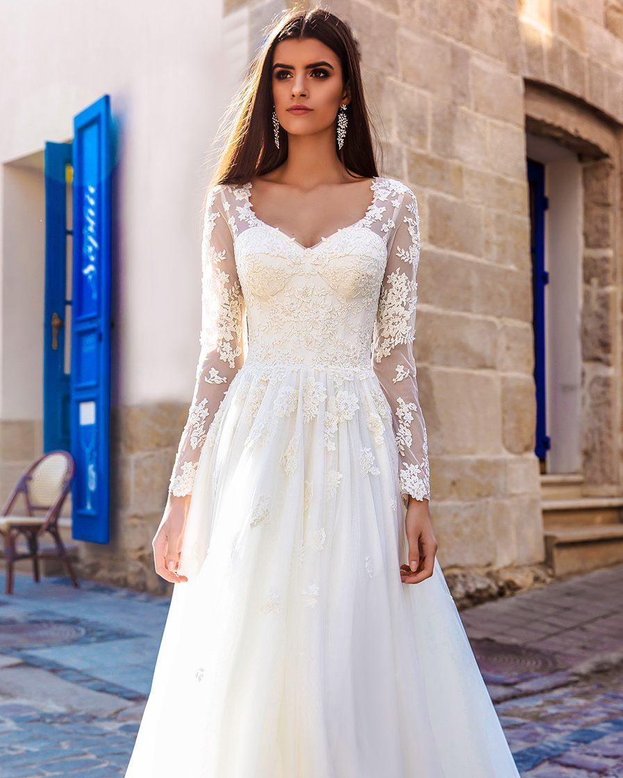 Vestidos De Novia Braut Kleid Eine Linie Land Böhmischen