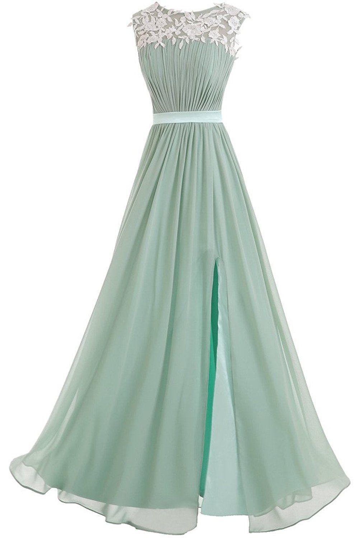Victory Bridal Elegant Spitze Damen Lang Abendkleider