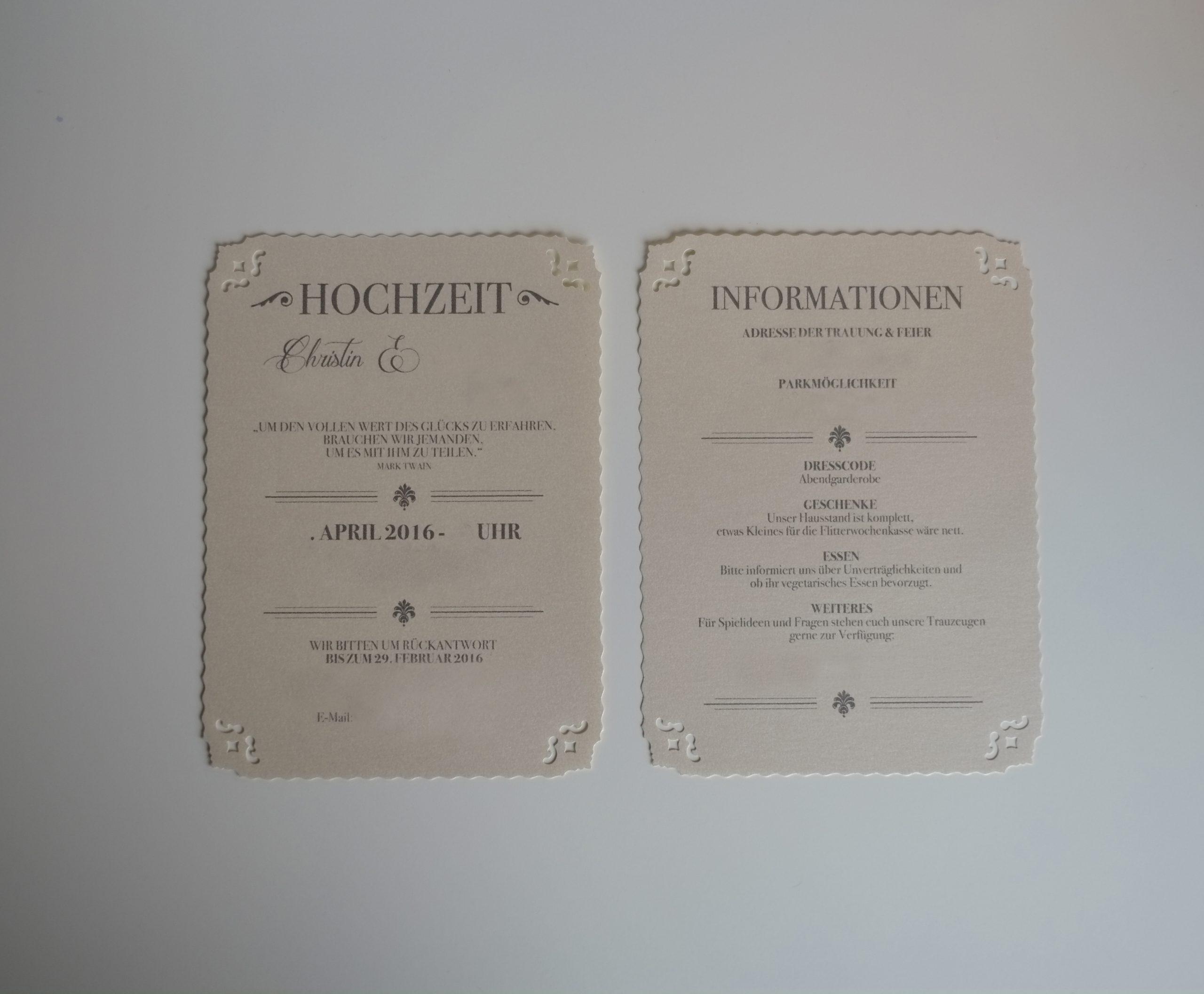 Vintage Hochzeitseinladung Diy - Vintaliciously Vintage Blog