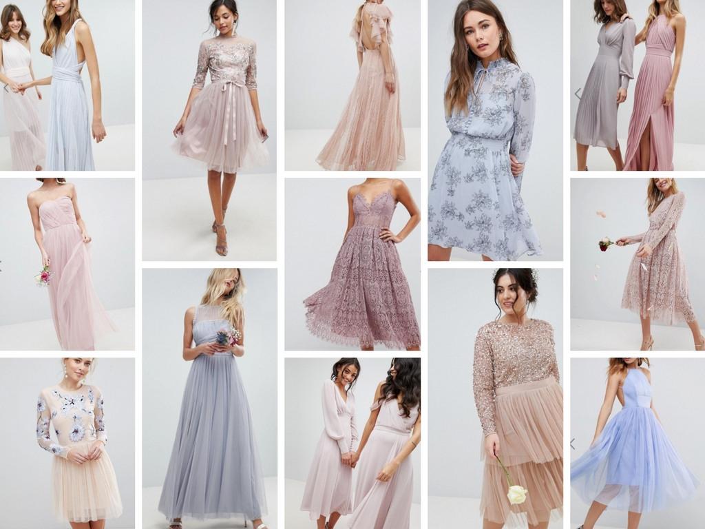 Pastell Hochzeit - Kleider .. Pastell-Rosa #17 - Abendkleid