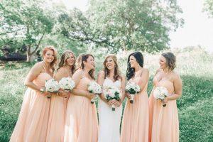 Watters Apricot Bridesmaid Dresses | Braut, Kleider Hochzeit