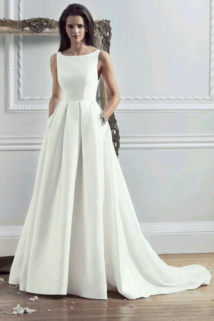 Wedding Dress ♢F&i♢ | Brautkleid Schlicht, Hochzeitskleid