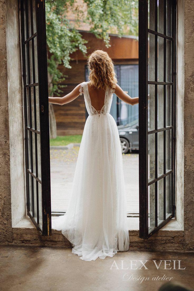 Wedding Dress 'gwendoline' / Elegant Wedding Dress, Boho