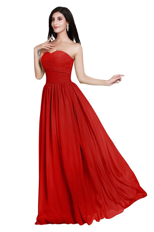 Wedding House Damen Kleider Herzf?rmige Brautjungfernkleider