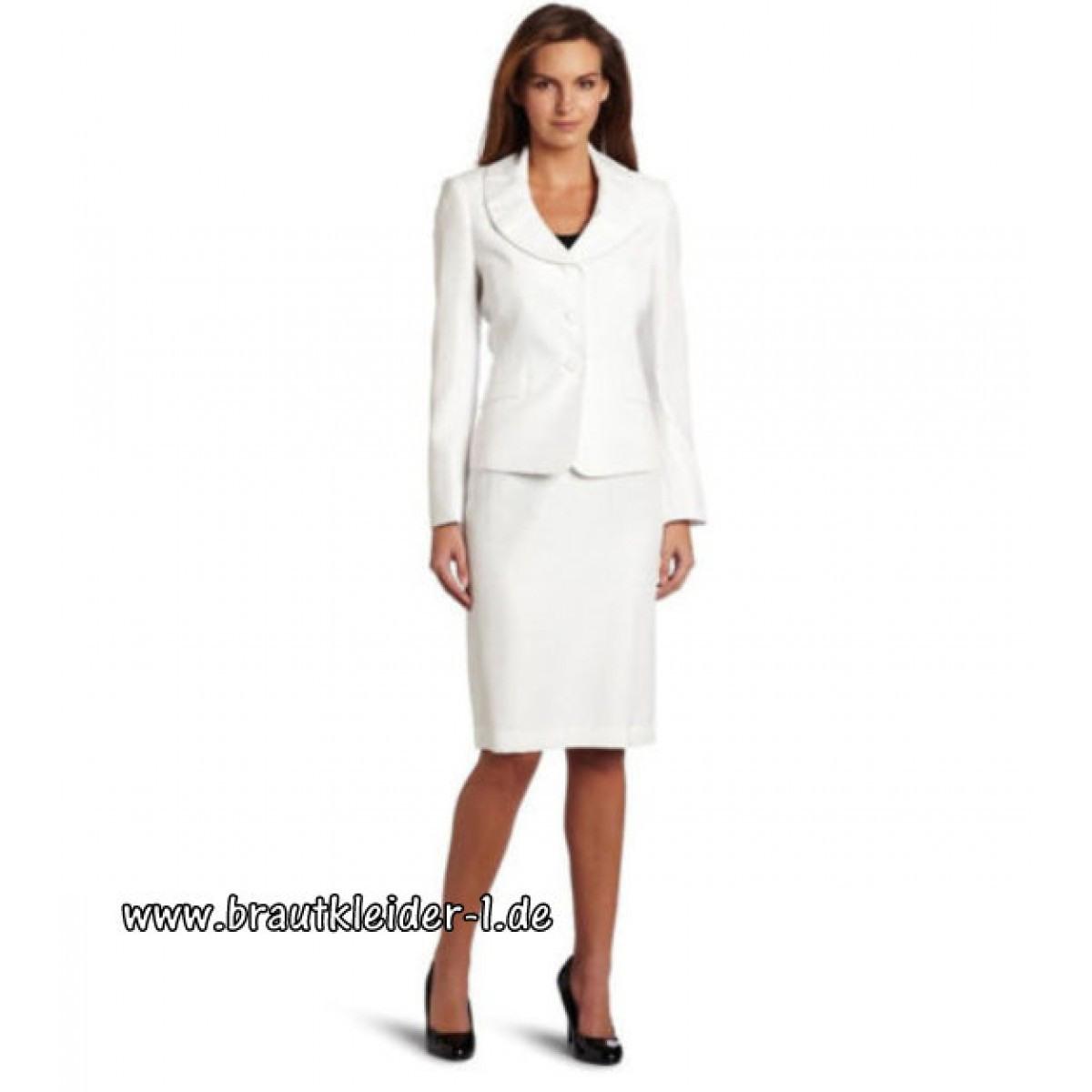 Weißes Standesamt Kostüm Für Die Braut Online