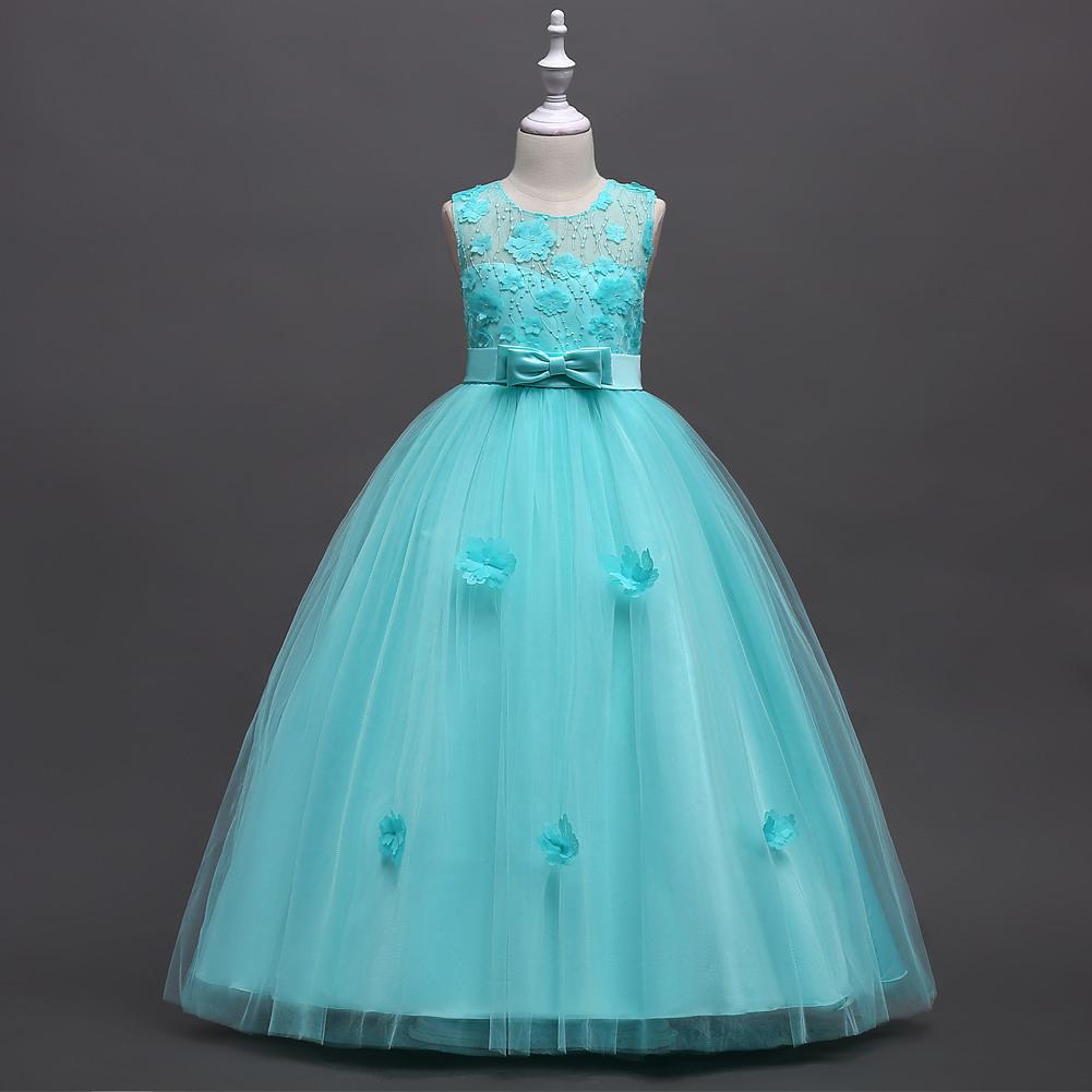 Western-Stil Rosa Mädchen Hochzeit Kleid Kid Blume Kleider Für 16 Jahre  Alten Mustern Fett Mädchen Party Kleider - Buy Hochzeit Kleid,kind