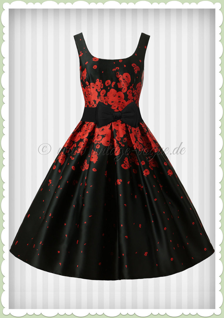Where To Buy Vintage Rote Blumen Kleid E0577 305B6