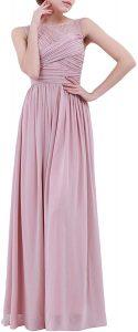 Yizyif Elegant Damen Kleid Festliche Kleider Brautjungfer