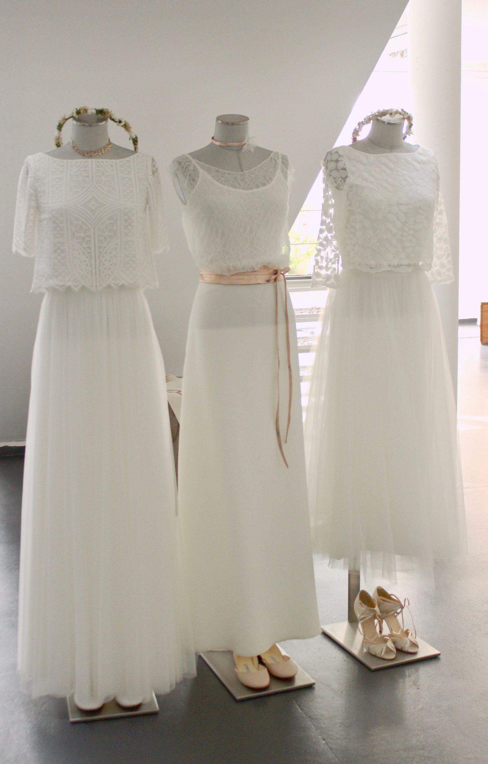 Zweiteiler, Brautkleider, Spitzentops Und Tüllröcke Für Die