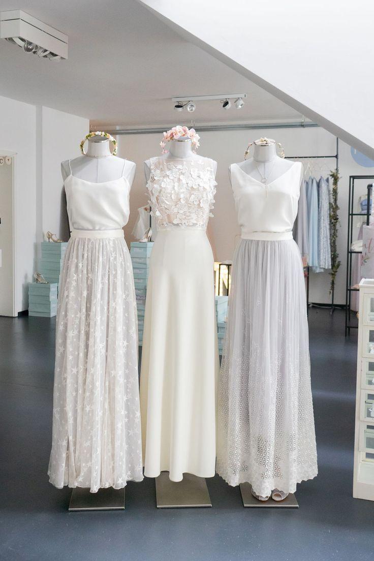 Zweiteiler Im Boho Stil Für Die Hochzeit | Braut, Kleid