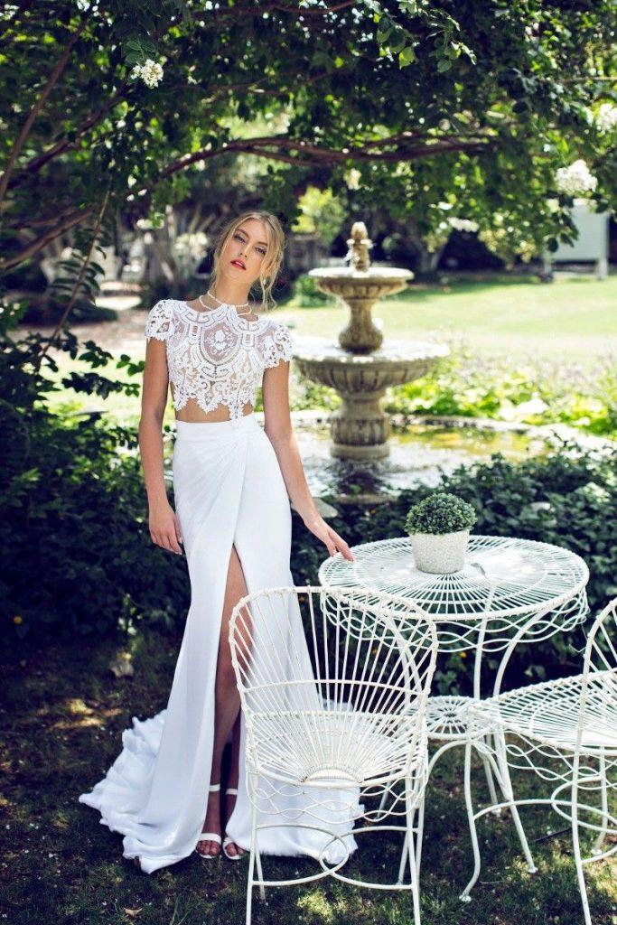 Zweiteilige Brautkleider - Rock & Top | Hochzeitskleid ...