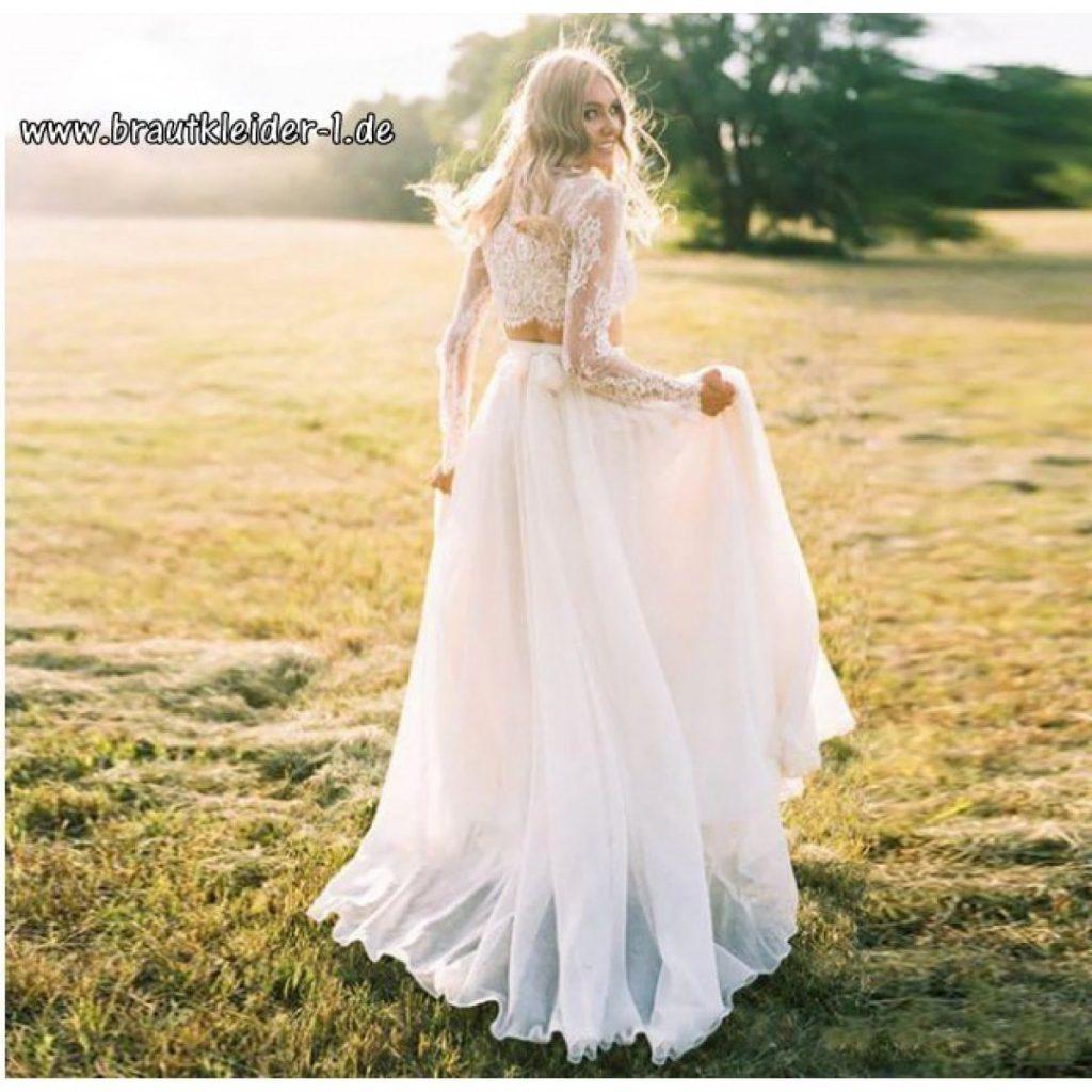 Zweiteiliges Brautkleid Frowine In Weiß - Abendkleid