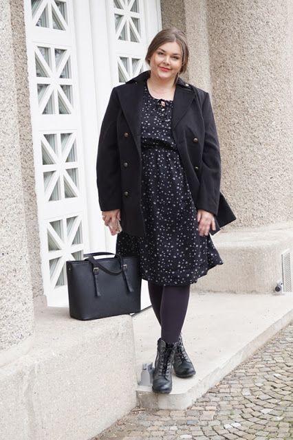 1 Schwalbenkleid  2 Looks  Mollig Modestil Outfit