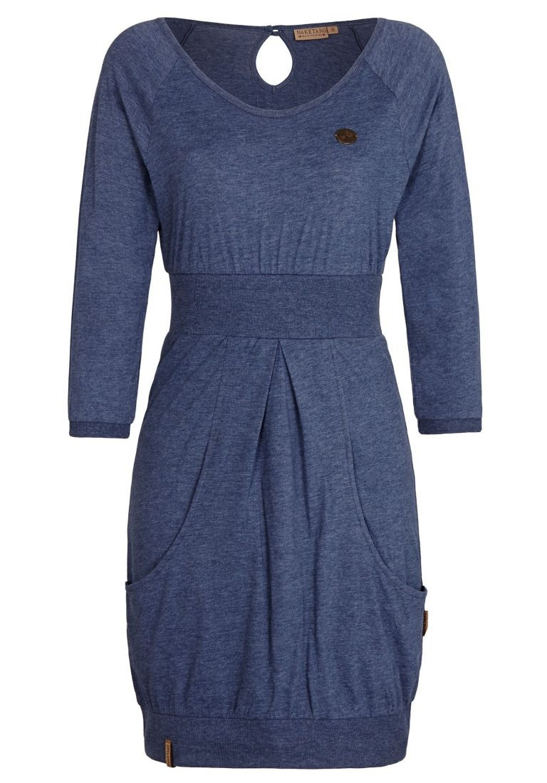10 Luxus Kleid Blau Langarm Bester Preis  Abendkleid
