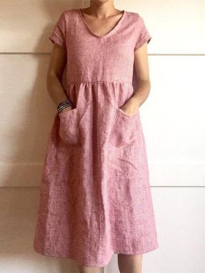 12 Kleid Damen Leinen Bild  Givil Lardo