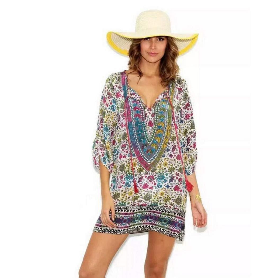 1259€  Damen Vintage Kleider Böhmischen Druckkleid